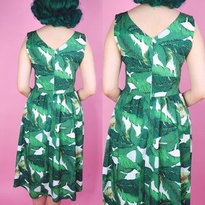 Dresses - Palm Print Day Dress